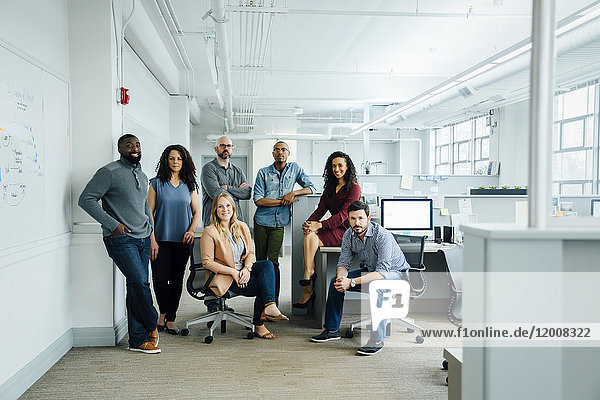 Portrait of diverse business people in office