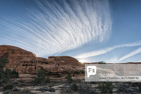 Blue sky over desert  Moab  Utah  United States
