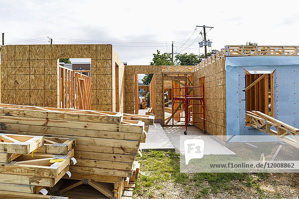 Construction site of house