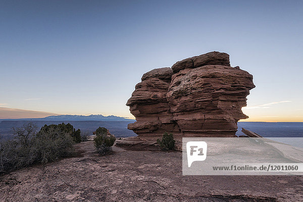 Rocks in canyon at sunset  Moab  Utah  United States