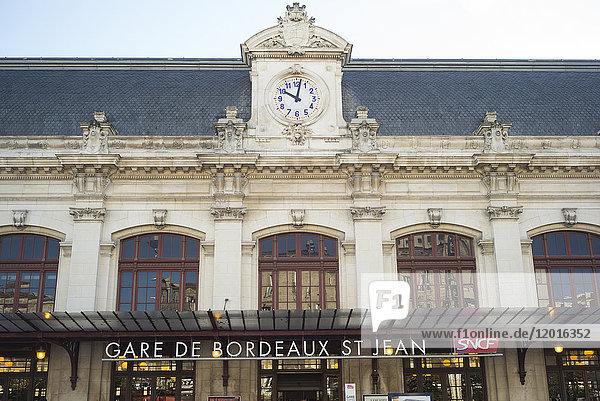 France  South-Western France  Bordeaux  Gare de Bordeaux St Jean railway station