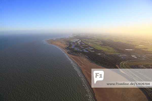 France  Pas de Calais  Calais  aerial view.