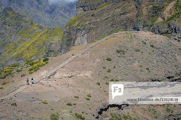 Hikers,  vereda Areeiro,  , Madeira,  Portugal.