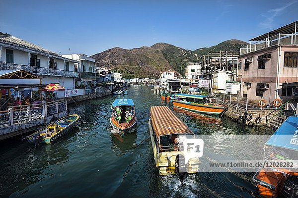 Tai O fishing village  Hong Kong  China.