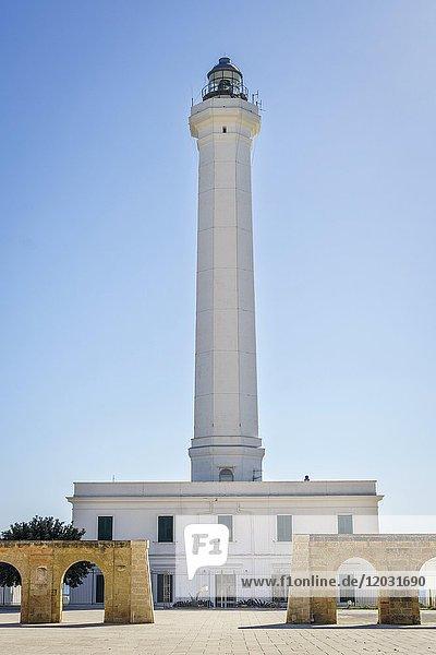 Lighthouse  Leuca di Santa Maria  Puglia  Italy  Europe