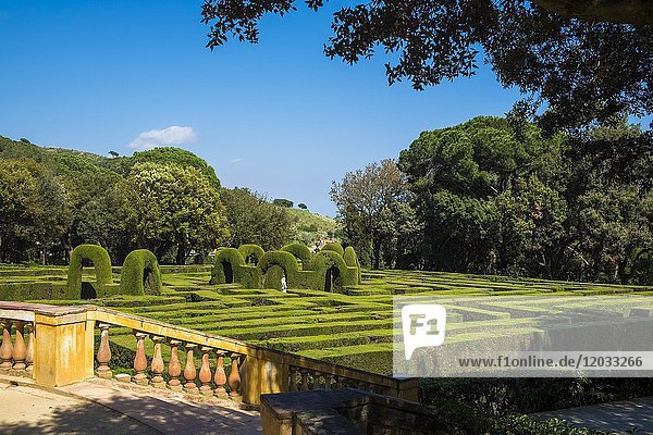Public park of the Labyrinth Park of Horta  Barcelona  Catalonia Spain Europe.