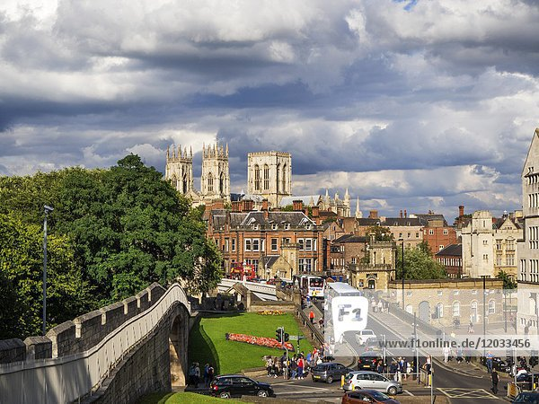 York Minster from the City Walls York Yorkshire England.