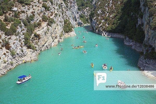 Lac de Sainte-Croix  Gorges du Verdon  Provence-Alpes-Cote d' Azur  Provence  Frankreich  Europa