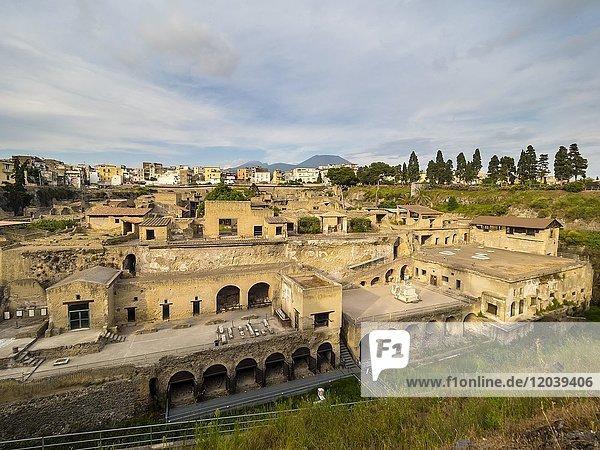 Herculaneum  Ausgrabungsstätte  Golf von Neapel  Kampanien  Italien  Europa