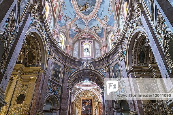 Altar room  Carmelite church  Mdina  Malta  Europe