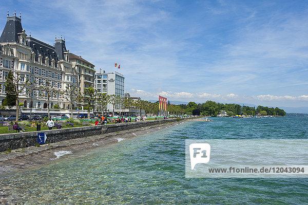 Lac Leman  Geneva  Switzerland  Europe