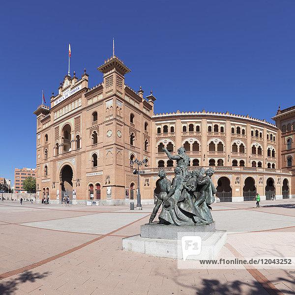 Las Ventas bull ring  mudejar building  Plaza de Toros  Madrid  Spain  Europe