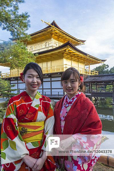 Frau Tradition frontal Asien Japan japanisch Kyoto