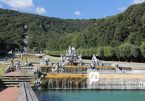 Fountains and gardens  Reggia di Caserta  Caserta  Campania  Italy  Europe
