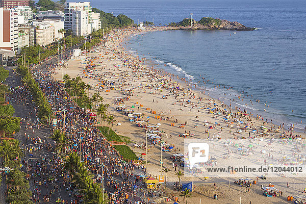 Ipanema Beach  Street carnival  Rio de Janeiro  Brazil  South America