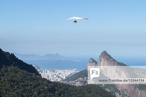 Hang gliding in Rio de Janeiro  Brazil  South America