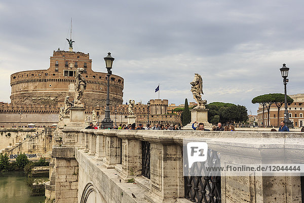 Ponte Sant' Angelo and Castel Sant'Angelo  Vatican area  Historic Centre  Rome  UNESCO World Heritage Site  Lazio  Italy  Europe