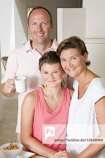 Portrait of Family in Kitchen