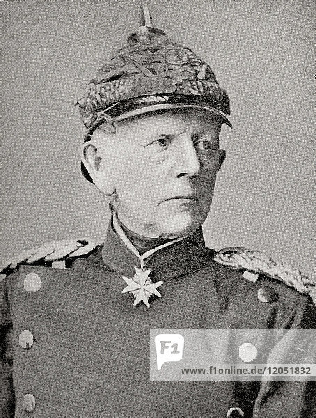 Helmuth Karl Bernhard Graf von Moltke  1800 - 1891. German Field Marshal and chief of staff of the Prussian Army. From Hutchinson's History of the Nations  published 1915.