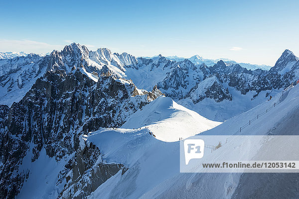 Route Down To The Vallee Blanche  Off-Piste Skiing; Chamonix  France