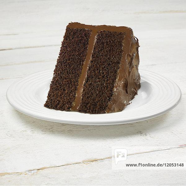 Slice Of Chocolate Cake On A Plate
