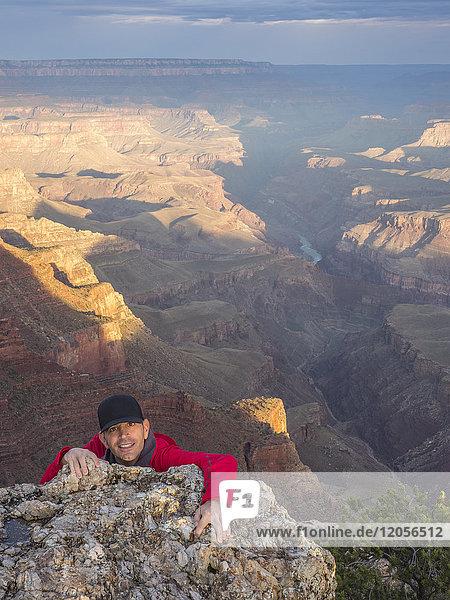 USA  Arizona  Grand Canyon Nationalpark  Portrait des Klettertouristen
