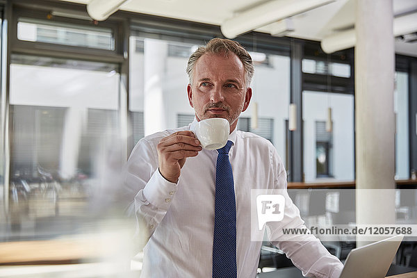 Portrait eines erfolgreichen Geschäftsmannes mit Hemd und Krawatte