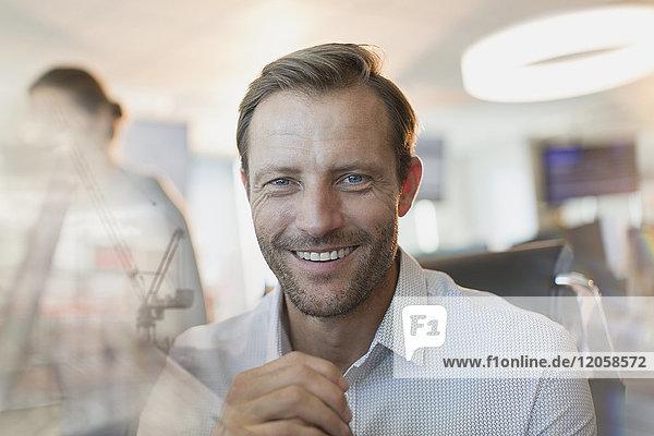 Portrait smiling  confident businessman