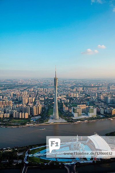 The building of Guangzhou city in Guangdong province China