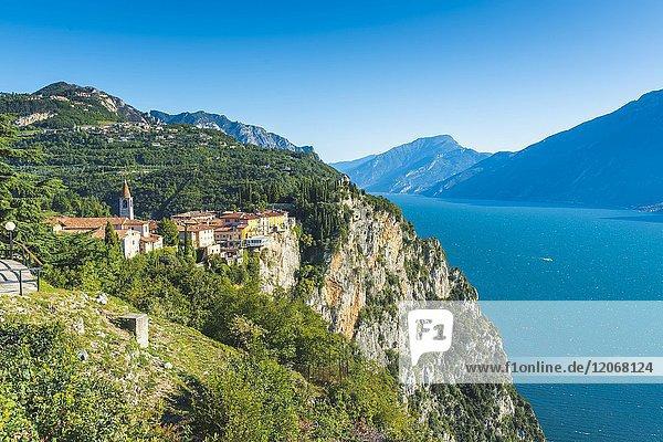 Tremosine  lake Garda  Brescia district  Lombardy  Italy.