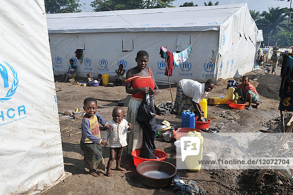 Congolese refugee camp in Uganda.