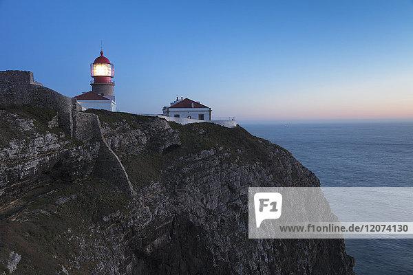 Lighthouse at Cabo de Sao Vicente  Sagres  Algarve  Portugal  Europe