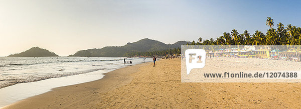Palolem Beach at sunset  Goa  India  Asia