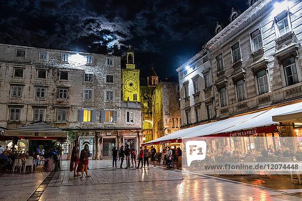 Nightlife in Split  Croatia  Europe