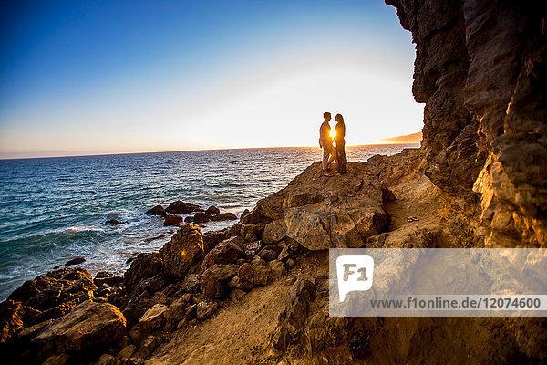 Young couple  Malibu  California  United States of America  North America