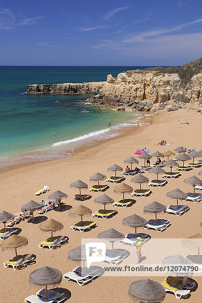 Praia do Castelo beach  Atlantic ocean  Albufeira  Algarve  Portugal  Europe