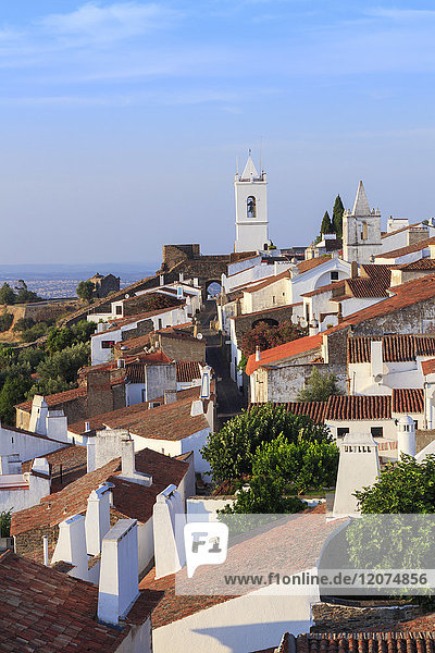 View of the medieval fortified village of Monsaraz  Alentejo  Portugal  Europe