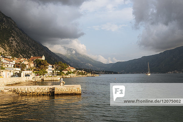 Dobrota  Bay of Kotor  UNESCO World Heritage Site  Montenegro  Europe