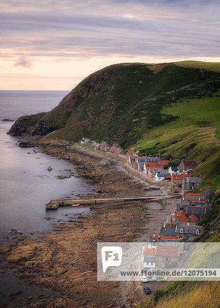 Crovie coastal village  Aberdeenshire  Scotland  United Kingdom  Europe