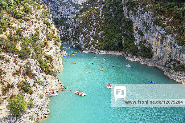 Lake St. Croix  Gorges du Verdon  Provence-Alpes-Cote d'Azur  Provence  France  Europe