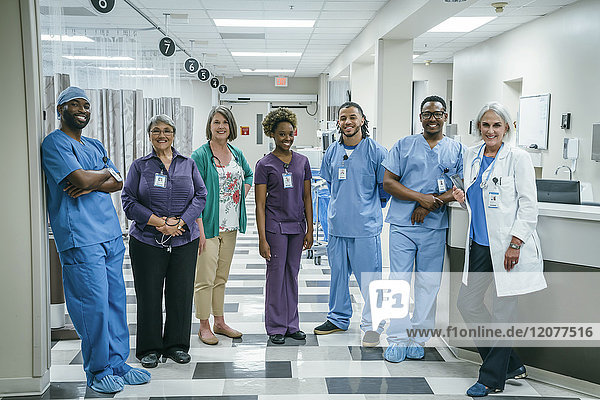 Portrait of smiling medical team in the hospital