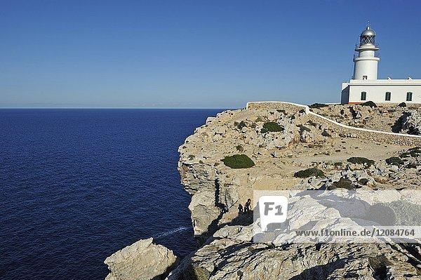 Lighthouse at Cape Cavalleria on the North Coast of Menorca  Balearic Islands  Spain  Europe.
