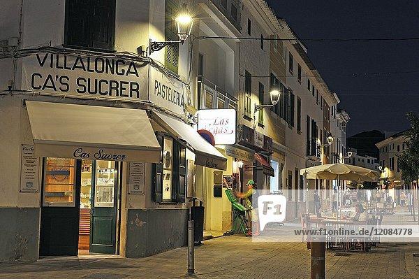 Cas Sucrer pastry shop  city of Es Mercadal  Menorca  Balearic Islands  Spain  Europe.