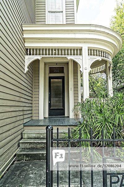 New Orleans  LA  Garden District. Elegant Side Door on a Classic Garden District Home.