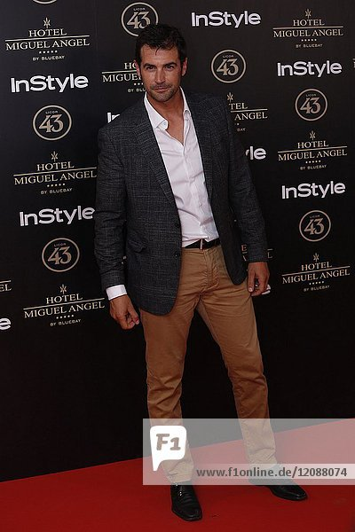 Alex Adrober attends el jardin de Miguel Angel and In Style beauty night in Madrid  May  24  2017 (Photo by Angel Manzano)..