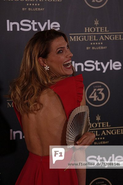 Laura Sanchez attends el jardin de Miguel Angel and In Style beauty night in Madrid  May  24  2017 (Photo by Angel Manzano)..