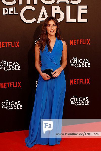 Premiere of the Netflix series Las chicas del cable.Clara Alonso.Madrid. 27/04/2017.(Photo by Angel Manzano)..