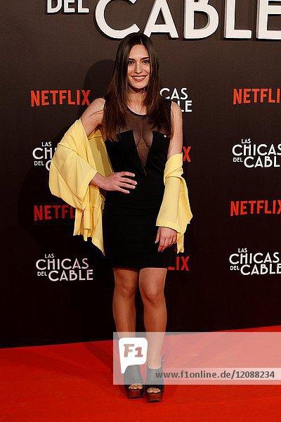 Premiere of the Netflix series Las chicas del cable.Yara Puebla.Madrid. 27/04/2017.(Photo by Angel Manzano)..