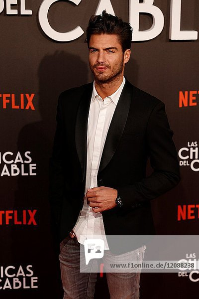 Premiere of the Netflix series Las chicas del cable.Maxi Iglesias.Madrid. 27/04/2017.(Photo by Angel Manzano)..