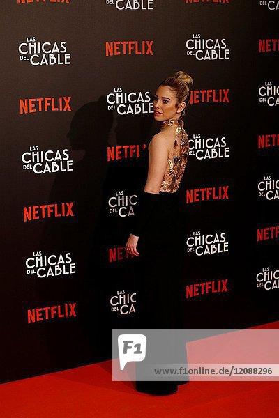 Premiere of the Netflix series Las chicas del cable.Blanca Suarez.Madrid. 27/04/2017.(Photo by Angel Manzano)..
